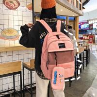 大学生双肩包女大容量多口袋高中学生书包户外休闲运动背包潮