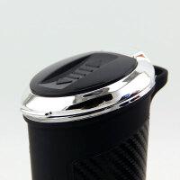 车载烟灰缸带点烟器创意多功能个性汽车车内带盖led灯通用烟灰缸SN8973
