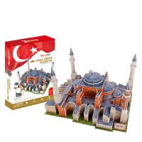 圣索菲亚大教堂建筑模型房子儿童3D立体拼图拼插玩具