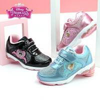 迪士尼Disney童鞋18春季新款儿童运动鞋时尚亮彩闪光灯鞋女童休闲鞋女孩公主鞋(5-10岁可选) DF0113