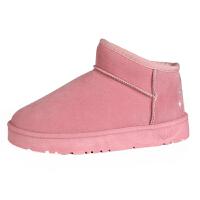 雪地靴女冬季韩版百搭加绒短筒学生绒面保暖防滑女款棉鞋