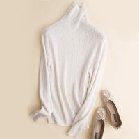№【2019新款】冬天美女穿的高领羊绒衫女纯山羊绒堆堆领套头新款宽松欧货针织打底衫毛衣