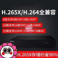 龙视安H.265X数字硬盘录像机4/8/16/32路高清网络远程监控主机NVR4al