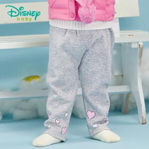 迪士尼Disney童装女童打底裤春秋新款两用档裤子宝宝保暖加绒长裤173K769