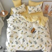 简约小清新床单三件套1.8m北欧1.5m米床上用品