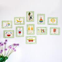创意水晶相框挂墙儿童房相片墙套餐客厅装饰磁性相框墙贴11件一套1