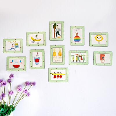 创意水晶相框挂墙儿童房相片墙套餐客厅装饰磁性相框墙贴11件一套1  注:若商品涉及规格尺码价格等问题请及时联系客服,否则可能导致商家拒发货