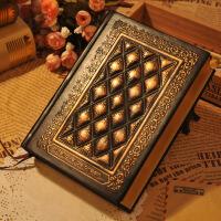 空白简约文艺笔记本文具复古欧式古典日记本子随身办公记事本