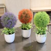仿真花套装花艺 装饰花盆栽盆景 家居摆件小树财树草球