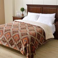 三�用�毯加厚�p�佣�季�w毯珊瑚�q毯被子法�m�q毯子�坞p人毛毛被毛毯被厚款冬天床上�的�p人毛毯小孩毛毯毛