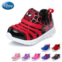 迪士尼Disney童鞋17新款毛毛虫童鞋婴童学步鞋蜘蛛侠婴儿鞋短毛绒宝宝鞋 蓝色(0-4岁可选) DS2589