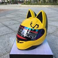 摩托车头盔全盔夏四季防晒遮阳越野男女个性赛车机车全覆式带犄角
