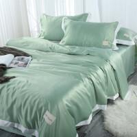 冰丝四件套床上用品丝滑裸睡夏季水洗床笠被套夏凉床单三件套