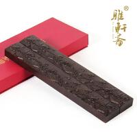 红木雕刻书枕 实木质大号书法压纸黑紫檀木荷花镇纸镇尺
