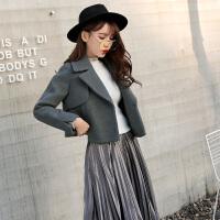 毛呢外套女学生韩版修身显瘦呢子小外套