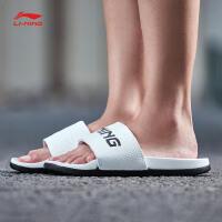 李宁拖鞋女鞋2018新款LN Slipper PU轻便夏季女士运动鞋AGAN004