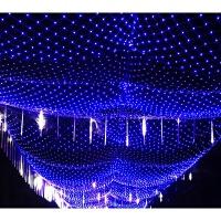 4*6米led彩灯串灯灯条网灯渔网灯户外防水蓝白结婚庆典2*3防水灯