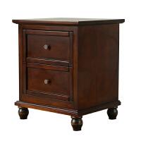 美式床头柜实木储物柜 欧式小边柜卧室收纳柜美式家具定制 整装