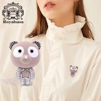 皇家莎莎胸针女士仿水晶胸花领针小熊别针时尚配饰品情人节生日礼物