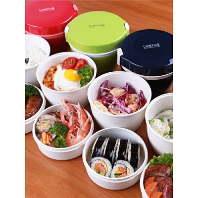 保温饭盒日式儿童保温桶双层便当盒可微波炉