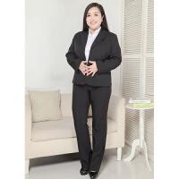 大码韩版商务职业面试正装特大码白领OL通勤免烫女西服套装xx