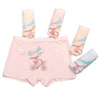 婴儿童平角内裤莫代尔纯棉宝宝1学生3中大童岁女孩女童四角短裤头