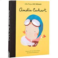 英文原版 Little People Big Dreams 小人物大梦想女孩 儿童英语启蒙绘本 精装 Amelia Ea