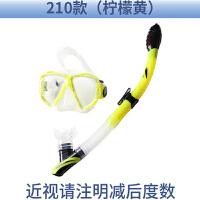 防雾近视潜水镜全干式呼吸管套装 浮浅装备 TUO浮潜三宝