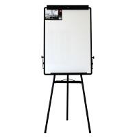 得力7892三角板 白板支架式可移动三脚架白板 60*90mm写字挂纸白板