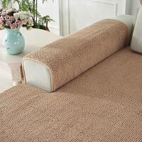 短毛绒雪尼尔沙发垫四季通用防滑北欧简约毛毛虫布艺皮沙发套坐垫