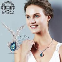 皇家莎莎仿水晶项链韩版时尚新款潮流气质毛衣链马蹄莲