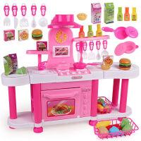 音乐厨房玩具 做饭厨具餐具套装过家家玩具 切切乐角色扮演