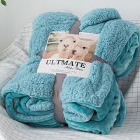 冬季双层加厚珊瑚绒法兰绒毯子单人双人盖毯午睡毯羊羔绒毛毯被子定制!