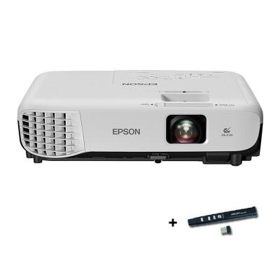爱普生(EPSON) CB-S05E投影仪 高清家用商务办公会议便携投影机3200流明S04E升级版新品首发,购机就送翻页笔