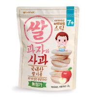 艾唯倪ivenet 贝贝大米饼进口零食宝宝辅食苹果味磨牙饼干30g