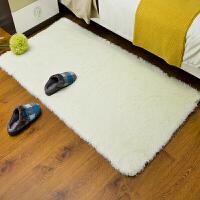 冬天丝毛加厚床边地垫 卧室客厅茶几地毯长毛飘窗地垫满铺可定制