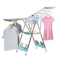 晒衣架衣架手动加长不锈钢晾衣杆外阳台移动婴儿尿布简易晒被架翼