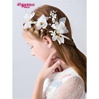 花童礼服演出配饰女童发饰发卡儿童头饰儿童头花饰品发夹花朵白色