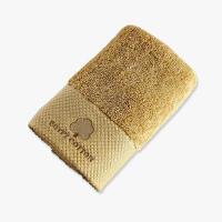 贝赛亚进口埃及棉绣花面巾5条家庭装-中驼色