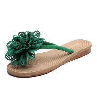 WARORWAR新品YM6-169J夏季休闲平底鞋舒适镂空花朵人字女士凉拖鞋