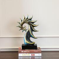 欧式美式树脂海螺摆件样板房创意装饰品客厅电视柜玄关装饰艺术品 海螺摆件
