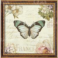客厅油画手绘欧式花卉装饰画餐厅卧室挂画美式花鸟蝴蝶2联画 100*100 组合(+)