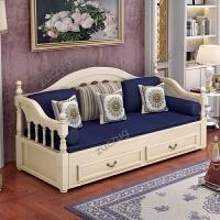 zuczug欧式实木沙发床客厅小户型多功能单双人两用可折叠推拉1.5米1.8m 1.8米-2米
