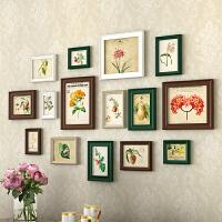 欧式照片墙装饰实木相框墙新款创意相片挂墙背景墙相册框组合套装