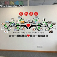 团队风采照片墙贴公司企业建设激励相片墙壁贴画心在一起相框贴纸