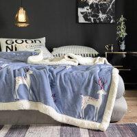 棉毯 冬天双层毛毯被子加厚冬季羊羔绒保暖珊瑚绒床单法兰绒毯子铺床垫床