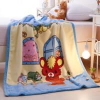 ???�和�毛毯�p�蛹雍�����w毯小毯子秋冬季�p面珊瑚�q毯子