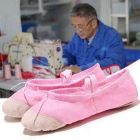 儿童舞蹈鞋软底儿童练功鞋女童猫爪鞋帆布瑜伽鞋舞鞋