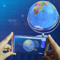 博目AR智能地球仪中学生用20cm 金属万向支架720°旋转 教材同步学生地球仪小号