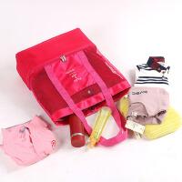 户外手提野餐包大容量保温包厚款牛津布饭盒袋带饭包便当包